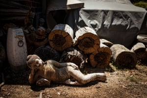 This statue was all that was left after the Black Saturday bushfire tore through Odette Bellamys property in Kinglake West