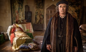 Claire Foy as Anne Boleyn and Mark Rylance as Thomas Cromwell in the TV adaptation of Wolf Hall.