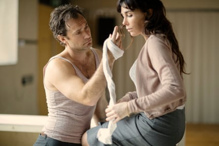 In rehearsals for Obsession with Jude Law: 'He is physical, strong.'