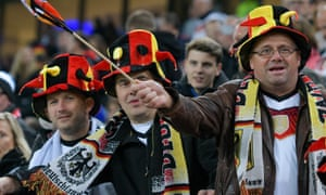 German football fans getting excited