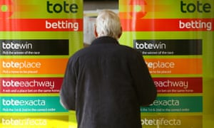 A Tote betting shop at Lingfield Park racecourse in Surrey.