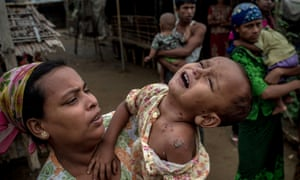 Many Rohingya people are forced to live in camps for internally displaced people in Rakhaing state in western Myanmar.