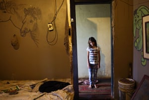 A young girl at home in Daleside