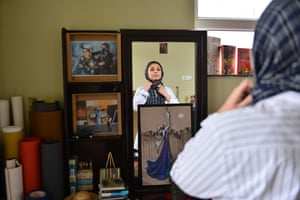 trailblazing women of kabul afghanistan  a photo essay  world  shamsia hassani  street artist