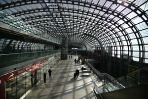 The Porta Susa railway station in Turin