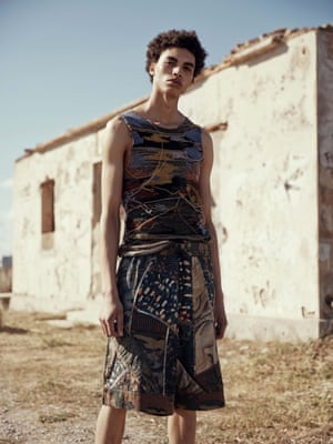 Vest, £300, and shorts, £830, both driesvannoten.be