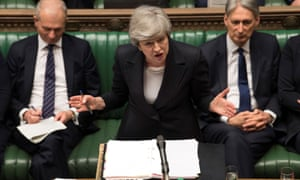 Theresa May speaks at the House of Commons
