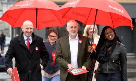 Jeremy Corbyn and John Healey