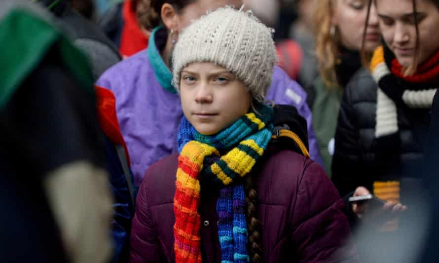 Swedish climate activist Greta Thunberg takes part in the rally ''Europe Climate Strike'' in Brussels, Belgium, 6 March 2020.