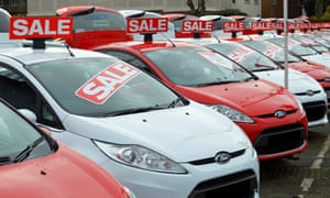 After a Christmas holiday splurge, consumers cut back on purchases of big-ticket items like cars.