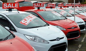 Used Ford cars on a dealership forecourt