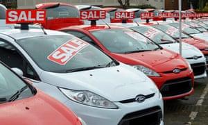 Car dealer forecourt