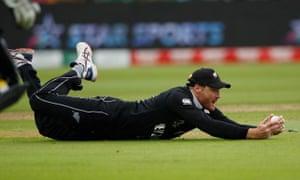 New Zealand's Martin Guptill catches Pakistan's Imam-ul-Haq.