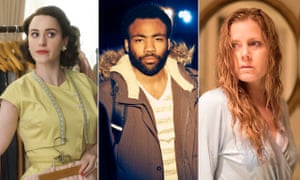 Rachel Brosnahan in The Marvelous Mrs Maisel , Amy Adams in Sharp Objects and Donald Glover in Atlanta