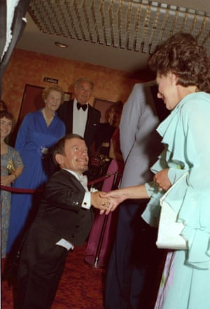 Baker meeting Princess Margaret at the Star Wars – The Empire Strikes Back film premiere in London in 1980