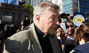 Cardinal George Pell arrives at court in Melbourne on 27 February. The disgraced cardinal is being sued by a 50-year-old man who says Pell molested him when he was a resident in St Joseph's boys' home in Ballarat.
