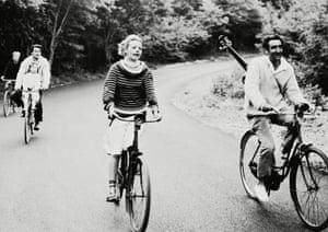 Oskar Werner, Jeanne Moreau and Henri Serre in Jules et Jim, 1962