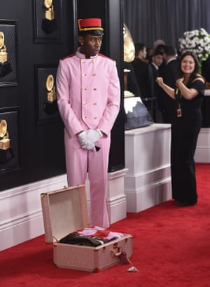 Tyler, the Creator arrives at the 62nd annual Grammy Awards .