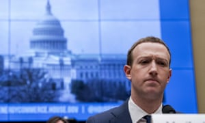 Facebook CEO Mark Zuckerberg pauses testifying before a House Energy and Commerce hearing on Capitol Hill in 2018.