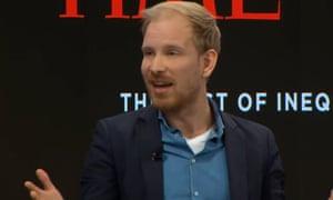 The historian Rutger Bregman in Davos