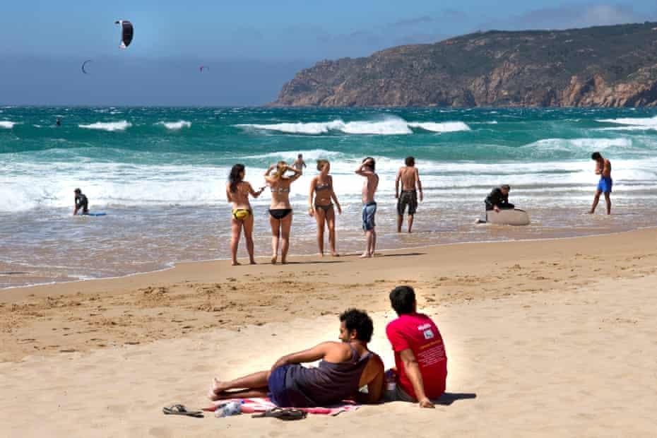 A beach at Cascais, near Lisbon Coast, Estremadura, Portugal