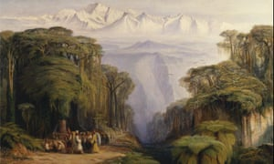 Edward Lear's painting Kangchenjunga from Darjeeling.