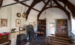 The former schoolroom in Tyneham village.