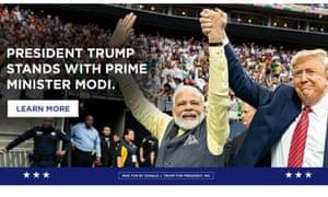 A Trump campaign ad featuring Modi.