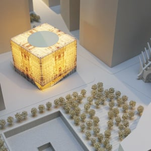 Model of the cube, lit up