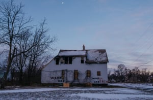 An abandoned house on Detroit's east side on Saturday, Jan. 26, 2019.