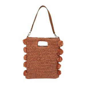 Pom-pom raffia, £32, warehouse.co.uk.
