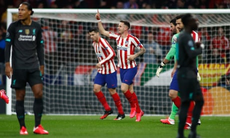 Disjointed Liverpool fall to Atlético Madrid and Saúl's early strike