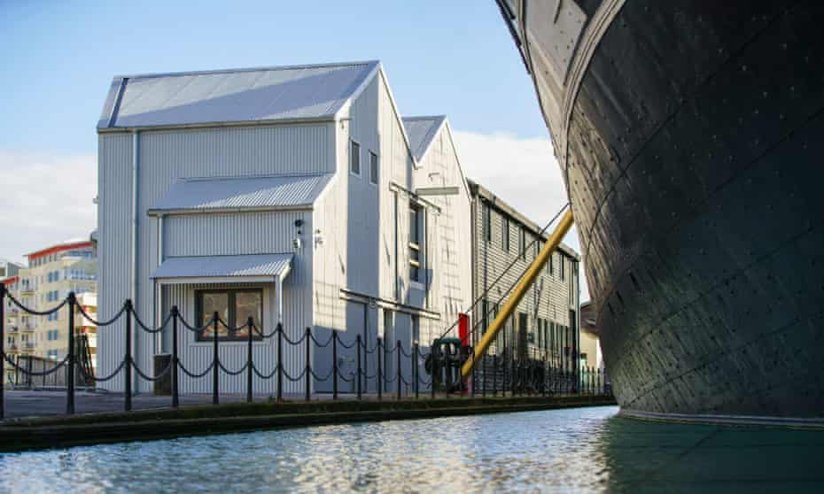 The Being Brunel museum will open, in March, next to the SS Great Britain. Image shows new visitor centre and museum on the Bristol harbourside next to the SS Great Britain ship.