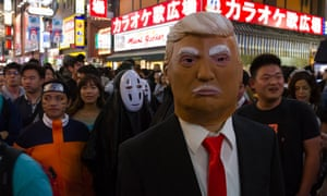 Fright night … Halloween costumes during the celebrations on October 28 in Tokyo, Japan