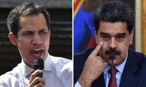Juan Guaidó and Nicolás Maduro