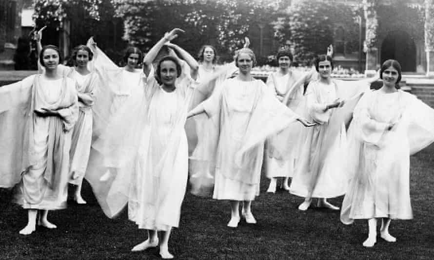 Rudolf Steiner's followers practise a therapeutic exercise called Eurythmy in 1931.