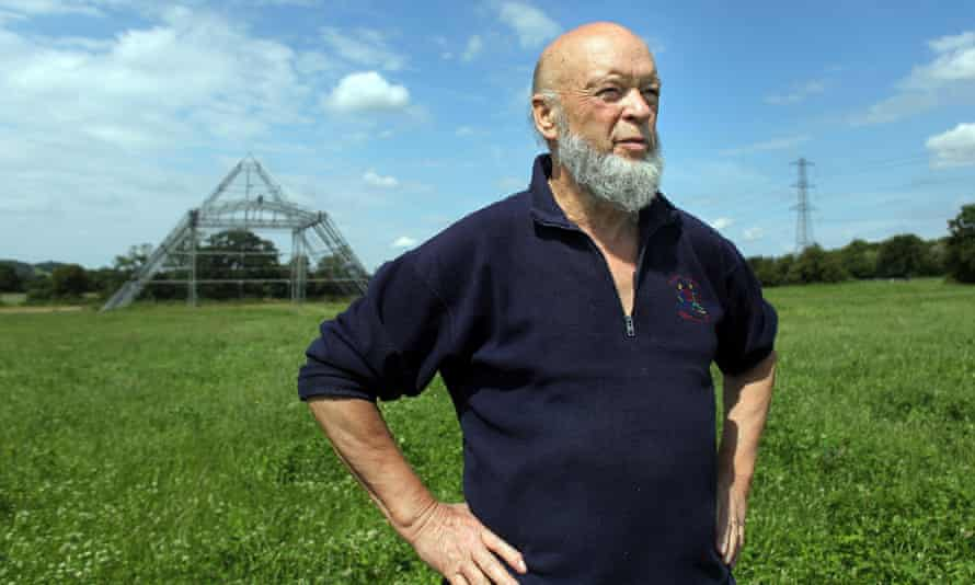 Michael Eavis in the Pyramid Stage field at Glastonbury