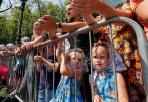 Kiev, UkraineOrthodox believers attend a prayer service to mark the 1,033rd anniversary of the Christianisation of Kievan Rus