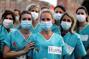 Nice, FranceHealth workers protest as part of a nationwide day of action to urge the French government to improve wages and invest in public hospitals, in the wake of the coronavirus disease.