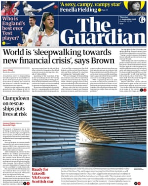 Guardian front page, Thursday 13 September 2018