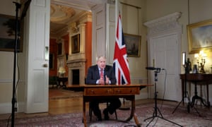 Boris Johnson gives a televised address to the nation
