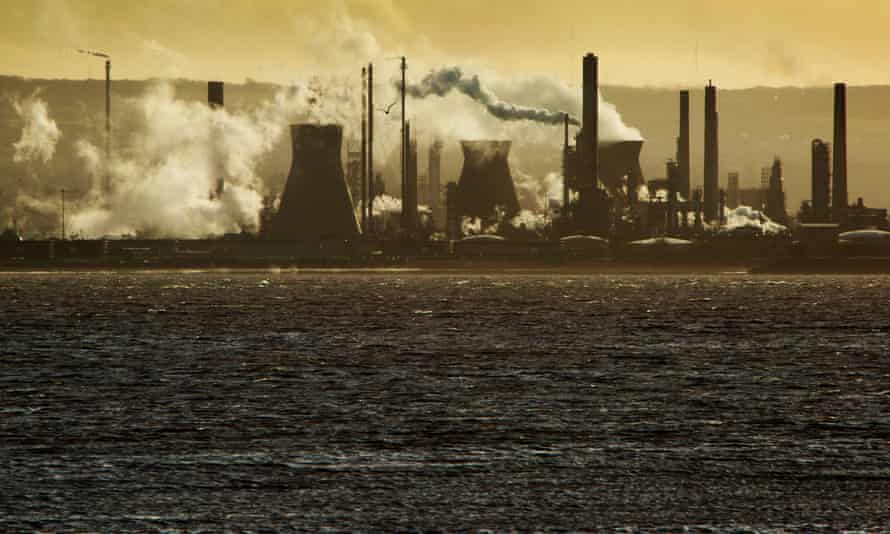 Oil refinery at Grangemouth.