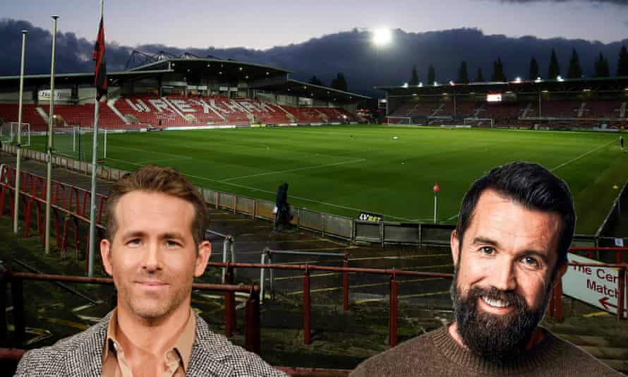 Ryan Reynolds (left) and Rob McElhenney who have bought the National League club.