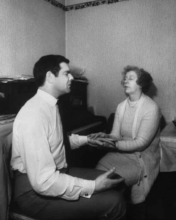 Rosemary Brown going into a trance to contact long dead composers.