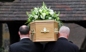 A funeral in the UK in August.