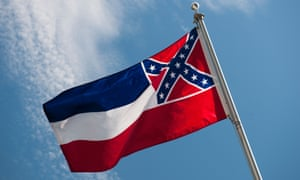 The Mississippi state flag includes a representation of the Confederate battle flag.