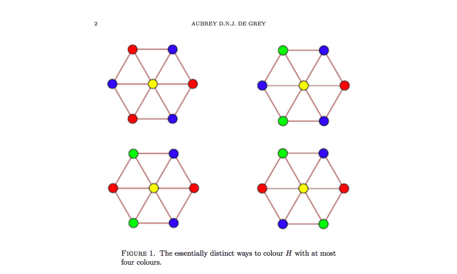 An image from Aubrey de Grey's paper in which he answers the Hadwiger-Nelson problem.