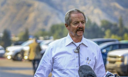 William Perry Pendley in Colorado in August. Montana's Democratic governor sued to remove Pendley, saying the former oil industry attorney was illegally overseeing the BLM.