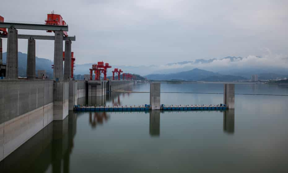 The Three Gorges Dam in Hubei, China, is the world's largest power station in terms of installed capacity, and the largest operating hydroelectric facility in terms of annual energy generation.