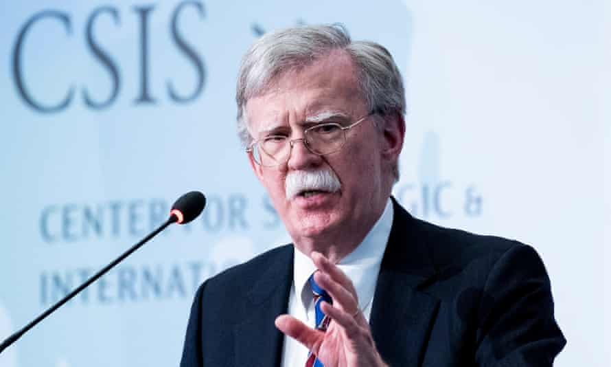 Bolton said in Washington: 'You don't like their behavior today? What do you think it'll be like when they have nuclear weapons that can be delivered to American cities?'